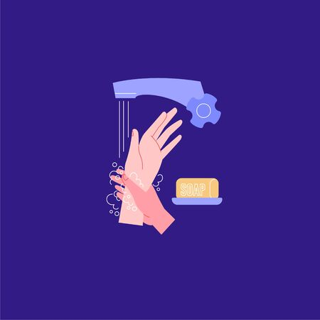 How to wash hands properly. Wrists