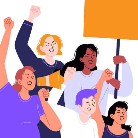 Feminist protest concept