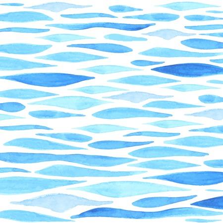손으로 그린 수채화 바다 배경