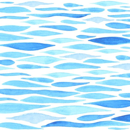 Hand painted watercolor sea background