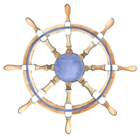 Acquerello nave volante fatta in vettoriale. Helm. Archivio Fotografico - 43321041