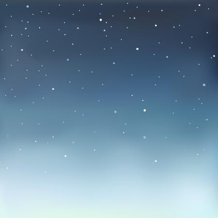 noche estrellada: Ilustración vectorial de EPS 10 formato de un cielo estrellado.