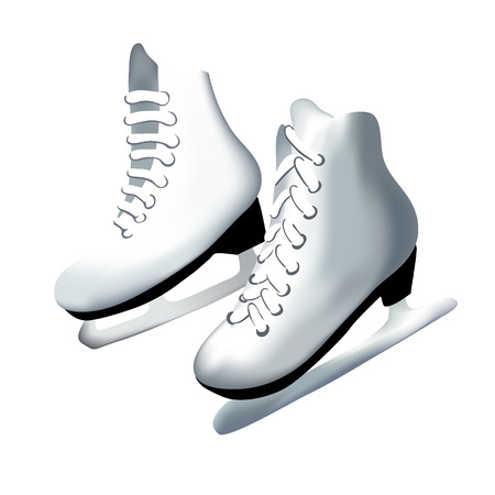 pair: Vector illustrated of a pair of skates Illustration