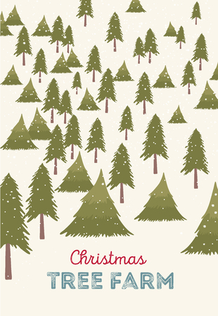 christmas tree farm vector illustration christmas trees for sale stock vector 48739687 - Christmas Tree Farms For Sale