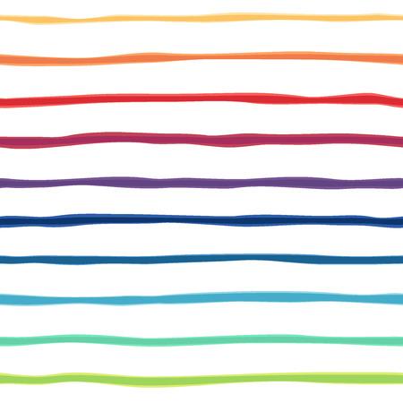 lineas horizontales: Abstracta del arco iris de fondo sin fisuras. Cuadro colorido de las tiras de gradiente. ilustración. Ideal para tarjetas de felicitación Vectores
