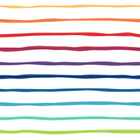 Abstract rainbow seamless background. Colorful picture of gradient strips. illustration. Great for congratulation cards Stock Illustratie