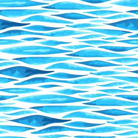 Caribbean sea: Sea background . Seamless pattern. Imitation of watercolor. Illustration