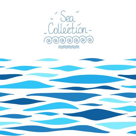 Sea background . Seamless horizontal pattern.