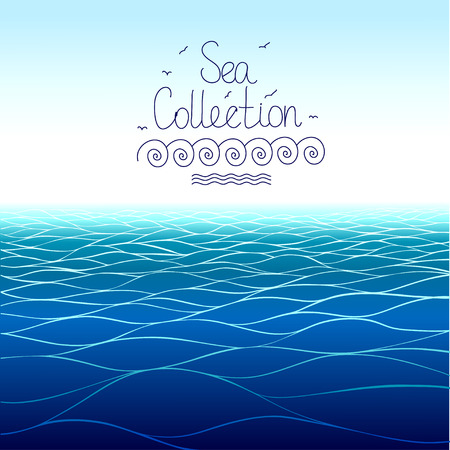 horizontal: Sea background . Horizontal pattern.