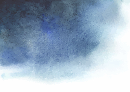 Watercolor blue gray abstract background. Spot similar to the a thundercloud.