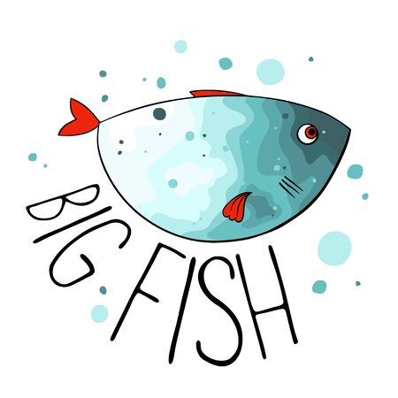 trolling: illustration of turquoise fish with red fins and tail