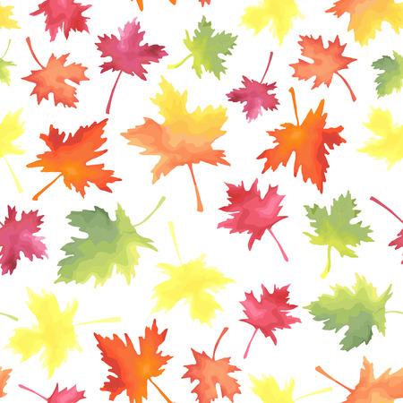 Pattern with colorful maple autumn leaves.