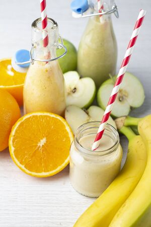 fruit smoothies 스톡 콘텐츠