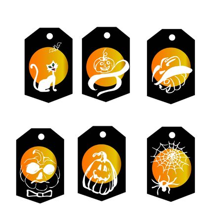 Make Halloween presents with interesting and fun tags Reklamní fotografie - 131398030