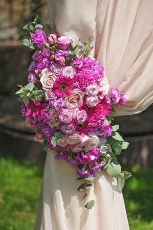 marrying: Wedding arch composition element Stock Photo