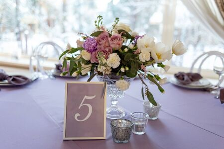 Elegant wedding bouquet in a vase 스톡 콘텐츠