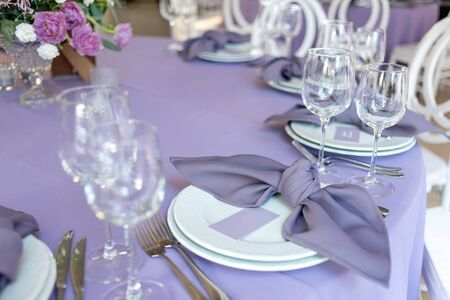 Magnificent table appointments of a holiday table