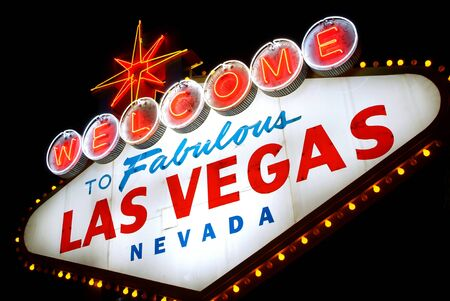Welcome to Las Vegas, Nevada (USA), at night photo