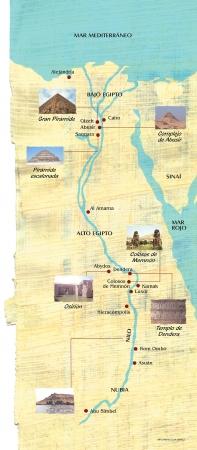 Egypt map on parchment