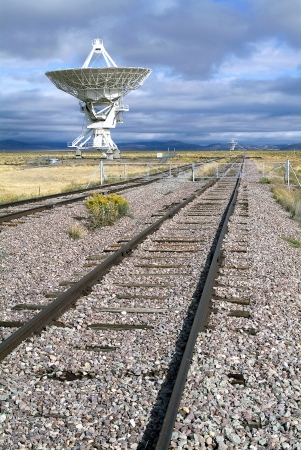 Landscape of Very Large Array of Radio Telescopes in Magdalena, New Mexico, USA photo