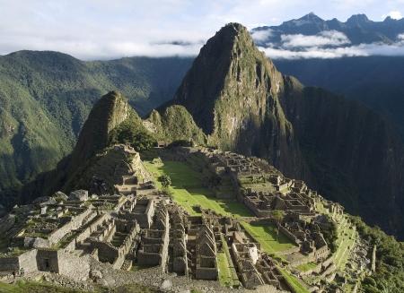 machu picchu: Typical view of Inca City of Machu Picchu, Peru Stock Photo