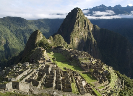 Typical view of Inca City of Machu Picchu, Peru Banque d'images