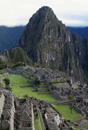machu picchu: General View of Inca City of Machu Picchu, Peru