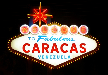 caracas: Welcome to Fabulous Caracas Stock Photo