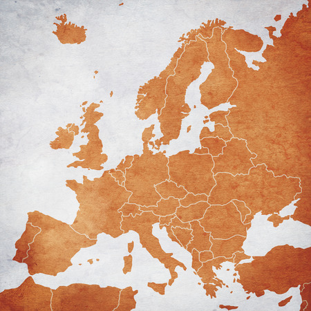 Map of Europe Banque d'images