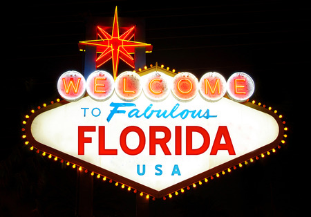 Welcome to Fabulous Florida Banque d'images