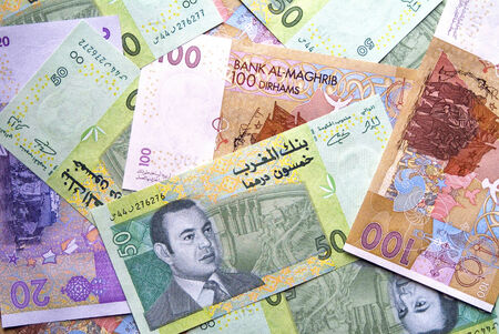 Mixed Moroccan currency