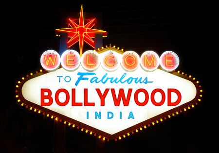 bollywood: Welcome to Bollywood sign Stock Photo