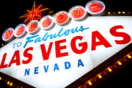 old sign: Las Vegas Stock Photo