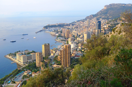 View of the city of Monaco (France)