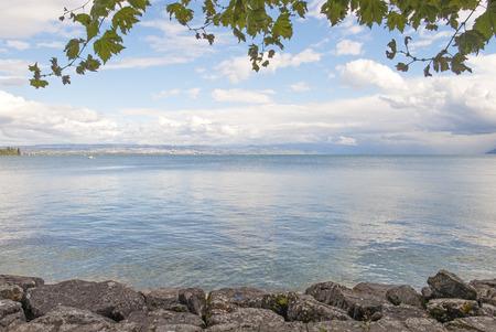 Leman lake in Geneva (Switzerland)