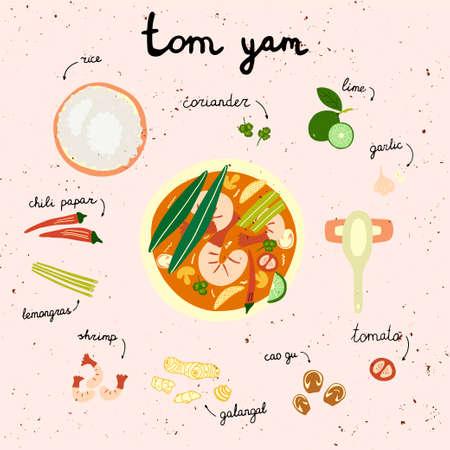 Tom Yum Asian hot soup.