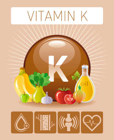 Vitamin K supplement food Infographic poster