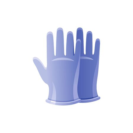 PPE medical surgical gloves icon. Corona virus Covid 19 protect equipment. Coronavirus prevention element. Vector illustration isolated on white background