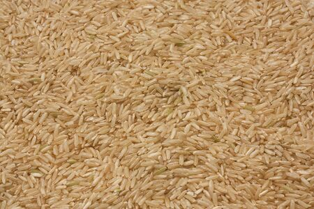 Brown rice background texture Stock Photo