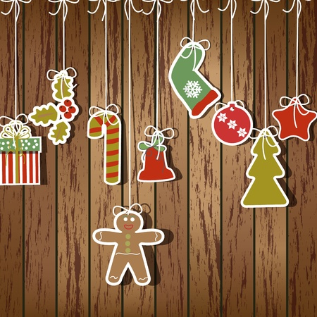 christmas stars: Christmas illustration background Illustration