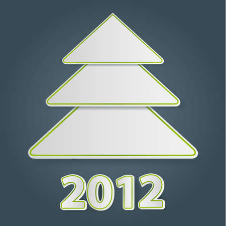 Christmas ree illustration for 2012 Vector