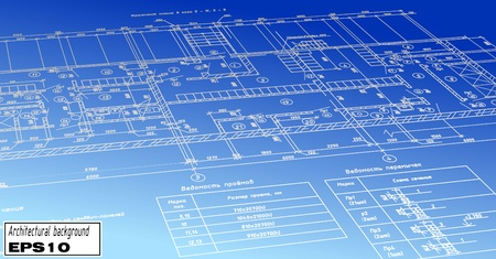 autocad: plan blueprint Illustration
