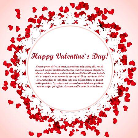 Valentine card design photo