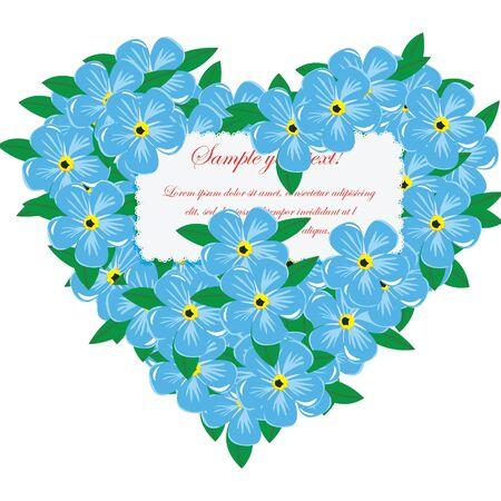 Heart of flowers Stock Vector - 11907550