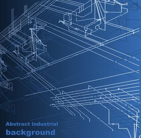 loodgieterswerk: Abstracte industriële achtergrond