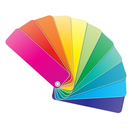 color swatch book: The coloured swatches book  The vector illustration   Illustration