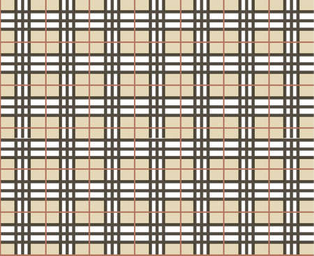 Traditional Scottish-cell pattern in beige palette     Vector