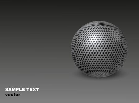 A Metal ball  Abstract industrial background   Vector