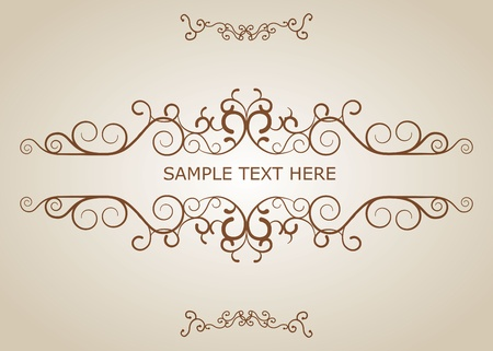 Calligraphic vintage design elements and page decoration  Vector