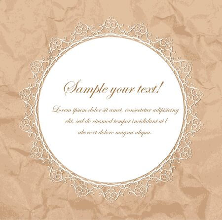 Vintage frame for retro banners with old paper Vector